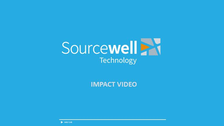 "Thumbnail graphic with Sourcewell Technology logo for ""The Impact of Sourcewell Technology"" video"